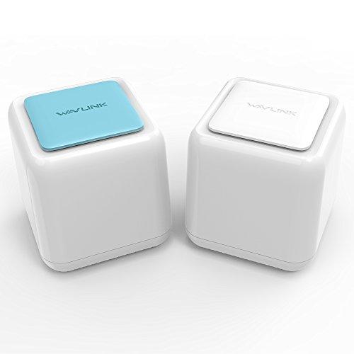 WAVLINK Sistema de malla WiFi para todo el hogar AC1200 de banda dual con Touchlink,cobertura de hasta 2000pies cuadrados,sin zonas inactivas WiFi, 3puertos Gigabit Ethernet en cada enrutador de malla