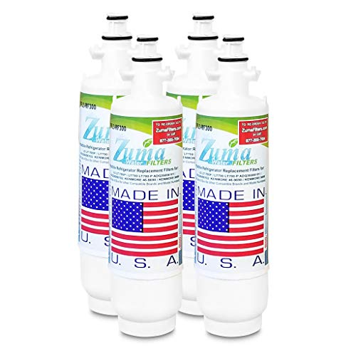 (4 Pack)LG ADQ36006102-S Compatible Refrigerator Water and Ice Filter by Zuma Water Filters (OPFL3)