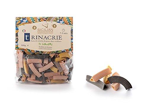 Daidone - Handgemachte sizilianische Trinacrie Nudeln in 5 Farben - 12 Pakete aus 300g