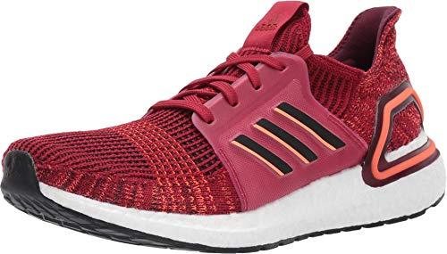 adidas Men's Ultraboost 19 Running Shoe, Active Black/Maroon, 12.5 M US