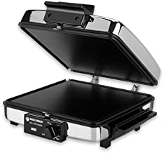 Black and Decker Compact NONSTICK 3-In-1 Indoor Grill/Griddler & Waffle Maker with Chrome Housing and Stay-Cool Handles by BLACK+DECKER