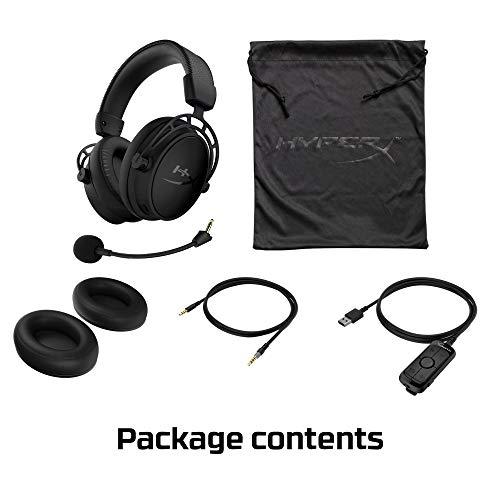 HyperX Cloud Alpha S - Gaming Headset, für PC, PS4, 7.1 Surround Sound, einstellbarer Bass, Dual Chamber Drivers, Chat Mixer, atmungsaktives Kunstleder, Memory-Schaum, Mikrofon