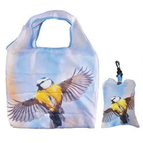 Einkaufstasche Meise, 50 x 40 cm, Einkaufstaschen Falttaschen Stofftasche Stofftaschen Tasche