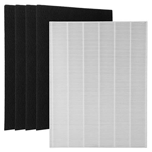 XuBaofu-SH, 1 True HEPA Filter + 4 Carbon Vervangende Filters A 115115 Maat 21 voor Winix PlasmaWave Luchtreiniger 5300 6300 5300-2 6300-2 P