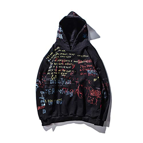 Hip Hop Graffiti Hoodies Herren 2020 SpringCasual Pullover Sweats Hoodie Männliche Mode Skateboards Sweatshirts