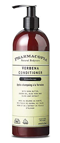 Pharmacopia Verbena Conditioner – Aromatherapy Hair & Scalp Care with Natural & Organic Ingredients – Vegan, Cruelty Free, Aromatic Conditioner, 16oz