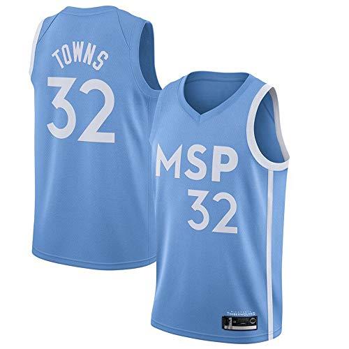 BXWA-Sports Camisetas de Baloncesto para Hombres, NBA Timberwolves # 32 Karl-Anthony Towns Ropa de Baloncesto Bordado Malla Baloncesto Swingman Jersey Deportes Tops,XL
