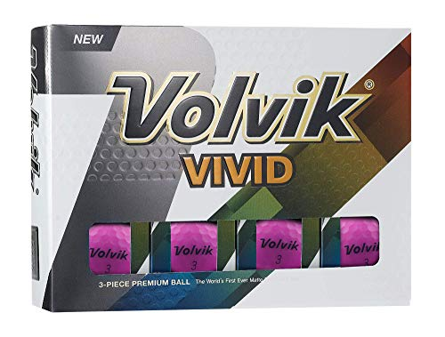 Volvik Vivid Golf Balls - Matte Purple
