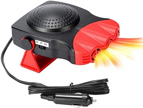 L.BAN Car Heater Defroster, 12V 150W Portable Car Heater Car Fan Heater Fast Heating Ceramic Heater, Defrost Defogger Demister Plug in Cigarette Lighter