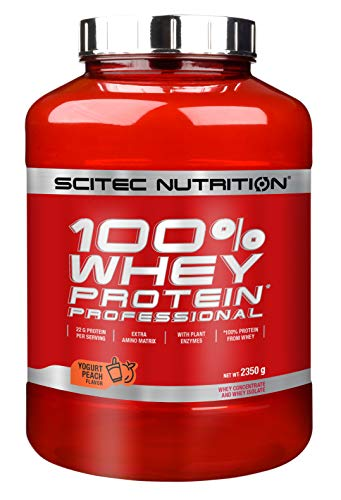 Scitec Nutrition Protein 100{0bd41e93928e7a341eec7c49892d2a4c6a20db368effc8a814e48a7110fe5344} Whey Protein Professional, Joghurt Pfirsich, 2350g