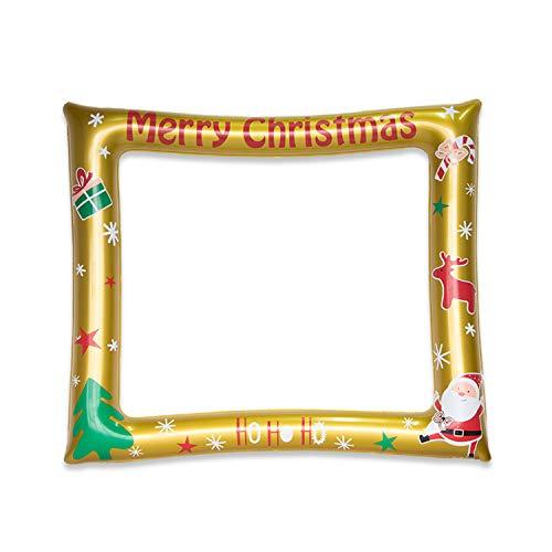 HONGCI Weihnachten Aufblasbarer Bilderrahmen,aufblasbare Selfie Frame Bilderrahmen,aufblasbare Party Photo Booth Requisiten Ideal für Hochzeit, Baby-Dusche,Geburtstag,Weihnachten Selfie Frame
