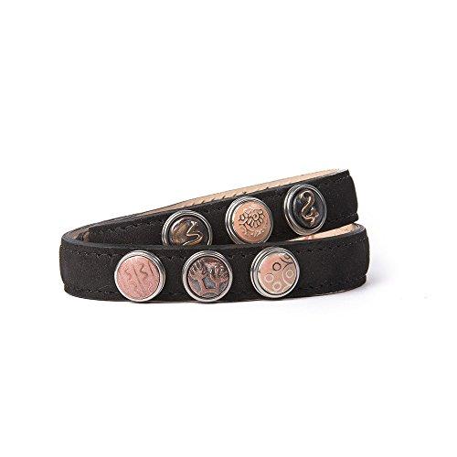 Noosa Armband Wrap Bracelet Petite Double Skinny black, Grösse:XS