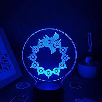 3D Night Light The Seven Deadly Sins Anime Mark Dragon Tattoo 3D LED RGB Night Lights USB Colorful Lava Lamp Bedroom Table Decoration ASQWZX