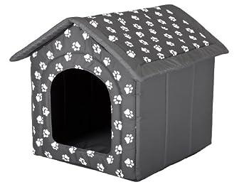 Hobbydog Dog House, Gris avec Pattes, R4 (60x55x60cm)