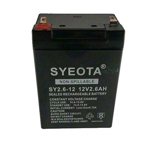 Songyuan Bateria Plomo Recargable 12v/2.6ah Sy2.6-12, Alarmas, Balanzas, Jugetes