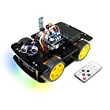 Freenove 4WD Car Kit (Compatible with Arduino IDE), Robot Project, Line Tracking, Obstacle Avoidance, Ultrasonic Sensor, Bluetooth IR Wireless Remote Control