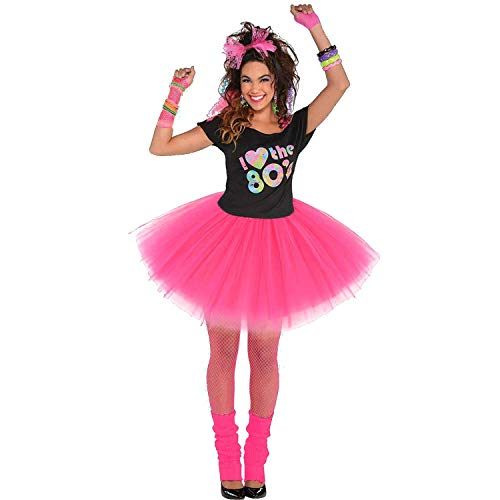 Women's 80's Tutu Skirt with Accessories. Choice of colors and sizes
