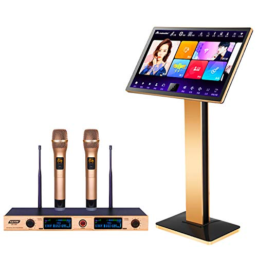 """2020 UrbanDrama KV-619 Karaoke Machine with Lyrics Display, 22"""" Touch Screen YouTube Movie Song WiFi Online Cloud Download, Wireless Microphone Professional Karaoke Player Fit for KTV Bar Home Party Colorado"""