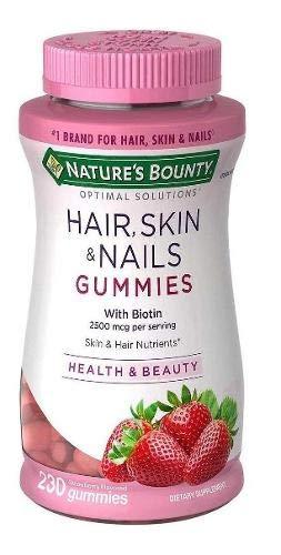 Hair, Skin & Nails 230 Gummies Nature's Bount, Importado Usa