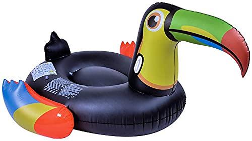 buzhidao Fun Beach Float Toys Black-Relleno Montajes de aves Inflable Lujo Piscina Poderos Adultos y niños Uso de verano Piscina de verano Sillas de cubierta
