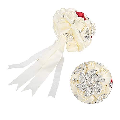 Salmue Ramo de Novia, Flor Artificial, Ramo de Novia de Cristal, Boda Bouquet para la Mano Decoraciones de Boda, Festival Bar Decor (2#)