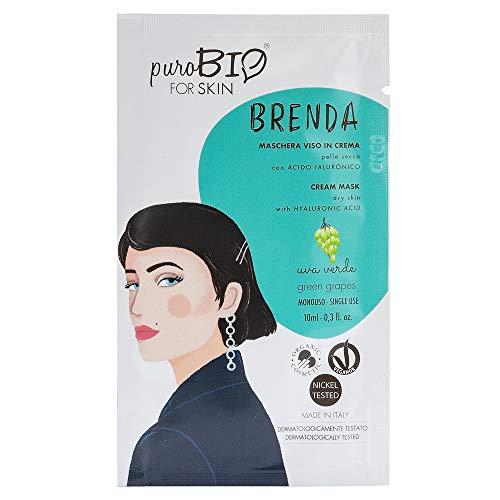 Purobio Brenda Maschera Viso In Crema Per Pelli Secche, 03 Uva Verde - 10 Ml