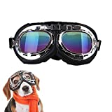 Lifeunion Vintage Steampunk Dog Goggles Adjustable Aviator Pilot Motorcycle Helmet Dog Goggles Sunglasses (A-Colorful)