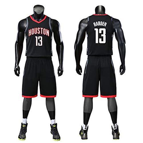 Gflyme Ldwxxx Maglia da Uomo Basket NBA Abbigliamento Completo, Sport Jersey, Houston Rockets Formazione Gioco Jersey, No. 13 Harden, Paul No. 3, No. 1 Madison Maglie (Color : Black13, Size : XXXXXL)