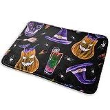 Felpudo Interior, Feliz patrón de Halloween. Dibujado a Mano, Acuarela Fondo de Halloween Felpudo 40X60 CM