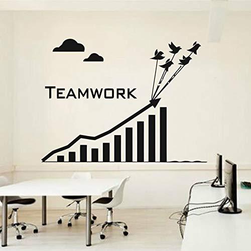 SLQUIET Anpassbare Kletterteams arbeiten hart, um erfolgreich Büro Motivation Wandtattoo Vinyl Wand dekorative Kunst Wandaufkleber GreenL 77x57cm zu bauen