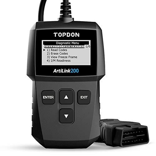 TOPDON AL200 OBD2 diagnosegerät Auto Universal OBD2-Scanner, kfz Fehlercode-Auslesegerät Fehlercode auslesen/löschen, Überprüfung der I/M-Bereitschaft