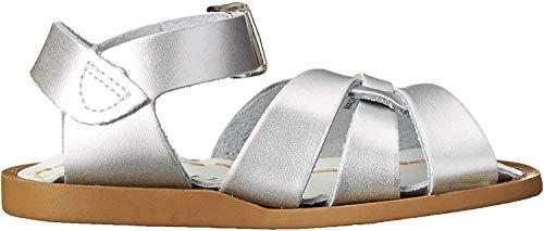 Salt Water Sandals Mädchen Salzwasser-die Original Sandale, Silber, 19 EU M Kleinkind