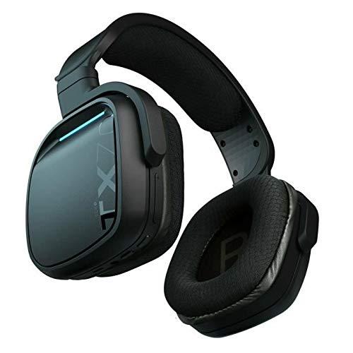 Gioteck - TX70 Drahtloses RF-Stereo-Gaming-Headset mit Crystal Clear Chat , Athletische Maschenpolster, 90-Grad-Drehung des Bechers - Schwarz