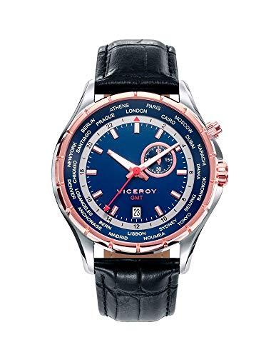 Viceroy Reloj Multiesfera para Hombre de Cuarzo con Correa en Cuero 401079-37