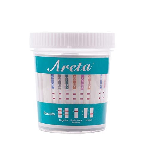 Best Review Of 5 Pack Areta 12 Panel Instant Drug Test Cup -Testing Instantly for 12 Different Drugs...