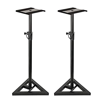 2x Thor MONS001 Studio Monitor Speaker Stand Height Adjustable Pair by Thor.