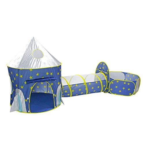 Hbao Carpa portátil 3 en 1 para bebés, túnel para Gatear para niños, Carpa para Jugar, Carpa para la Piscina, Piscina de Bolas para niños, Juego de Soporte para Bolas de Juguete para niños