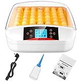 Incubatrice Per Uova, Incubatrice Automatica da 56 Uovo con LCD Display Digitale, Controllo della Temperatura e Funzione Automatica di Tornitura dell'uovo, Incubatrice per Uova, Anatra, Quaglia