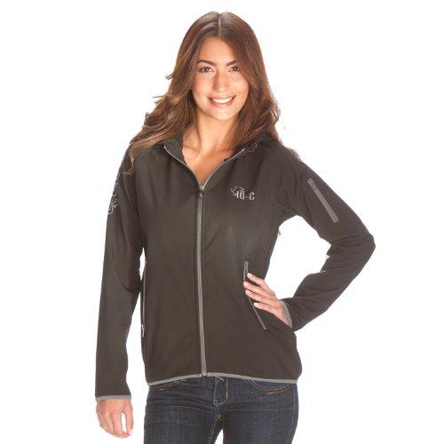 iQ-Company Damen Softshell-Jacke Hood, Black, S, 868107.2800_2800