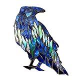 Fenteer Misterioso Mosaico Luces boreales Cuervos Pared decoración Ventana Pegatinas jardín atrapasoles para Halloween cumpleaños árbol decoración 1 Pieza