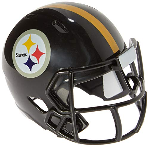 Riddell Mini-American-Football-Helm, NFL-Team: Pittsburg Steelers, im Taschenformat, Speed Pocket