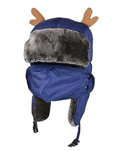East Majik Blauer Winter-im Freiensport Leifeng Hut mit Mund-Schablone für Kinder