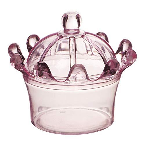HERCHR Scatole bomboniere 12 Pezzi, Scatola Regalo in plastica a Forma di Corona con Biscotti, Scatola Decorativa per Matrimonio, Compleanno, Baby Shower(Rosa)