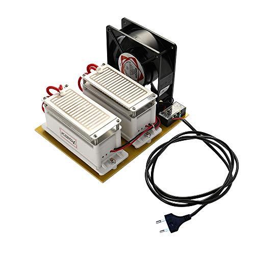 KKmoon 20 g/h 220 V Ozongenerator mit Fan,Tragbarer Luftreiniger für die Sterilisation von Heimautos