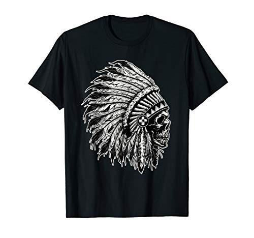 NATIVE AMERICAN BIG CHIEF SKULL HEADDRESS YUTTA-HEY DESIGN T-Shirt
