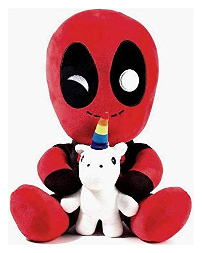 Marvel Comics - Plüschfigur - HugMe Kuscheltier - Deadpool 2 - Einhorn - 41 cm