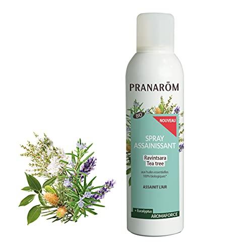 Pranarôm Aromaforce Spray Assainissant aux Huiles Essentielles Bio, Assainit/Purifie l'Air, Ravintsara/Tea-Tree, 150 ml