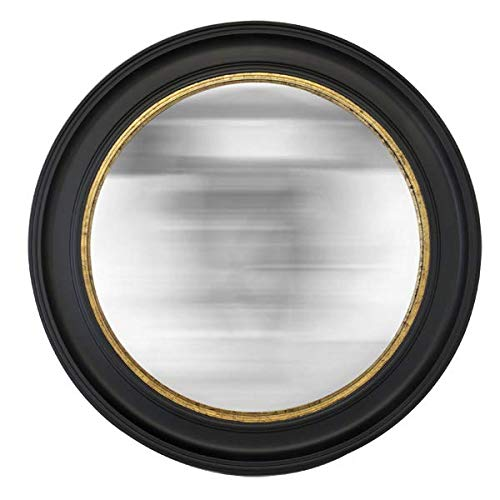 Convex spiegel, rond, zwart, 100 cm
