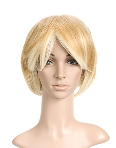 Golden Yellow Short Length Anime Cosplay Costume Wig