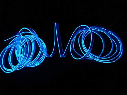 2M / 6FT USB Neon EL Wire Kaltlichter Hohe Helligkeit Elektrolumineszenz-Draht mit Laufwerkslichtlampe Glow String Strip für Xmas Party Pub Festival Dekoration(Blau)